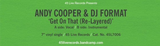 New release on 45 Live - Andy Cooper & DJ Format