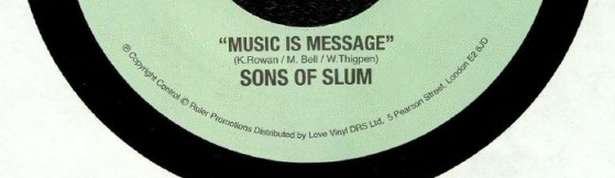 Sons Of Slum - Music Is Message (Cordial)
