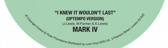 Mark IV -  I Knew It Wouldn't Last (Cordial)