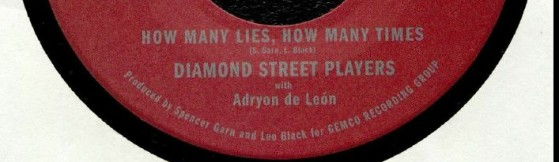 Diamond Street Players - How Many Lies, How Many Times (Gemco)